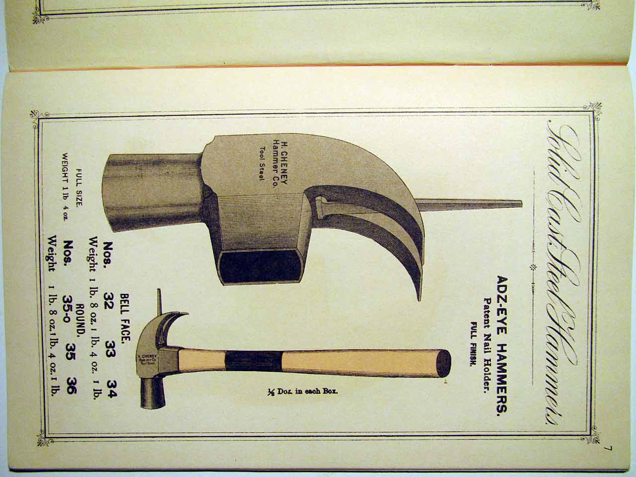 Hammers Patent Nail Holder